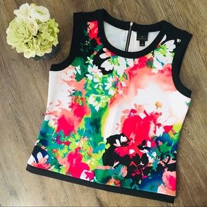 Dressy Floral Sleeveless Top!